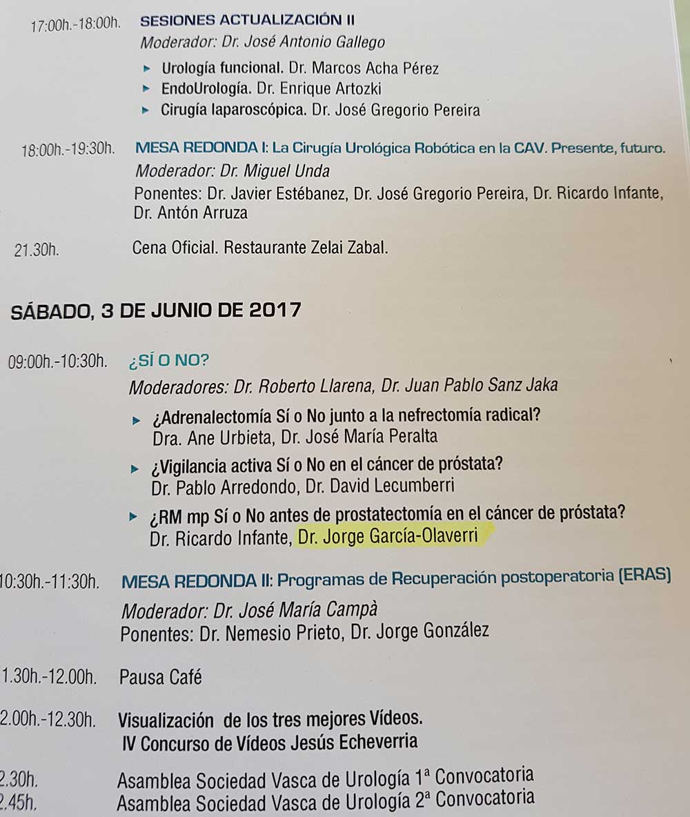 congreso cancer de prostata